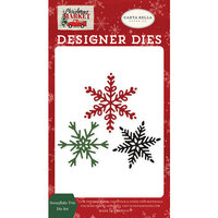 Carta Bella Paper - Christmas Market Collection - Designer Dies - Snowflake Trio