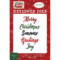 Carta Bella Paper - Christmas Market Collection - Designer Dies - Holiday Word
