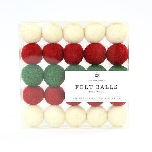 Carta Bella Paper - Christmas Market Collection - Felt Balls - Multi Pack