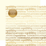 Carta Bella Paper - Congratulations Gold Foil Collection - 12 x 12 Paper with Foil Accents - Cream
