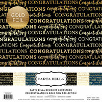 Carta Bella Paper - Congratulations Gold Foil Collection - 12 x 12 Collection Kit