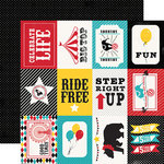Carta Bella - Circus Party Collection - 12 x 12 Double Sided Paper - 3x4 Journaling Cards
