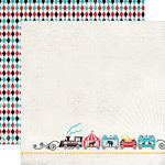 Carta Bella - Circus Party Collection - 12 x 12 Double Sided Paper - Circus Train