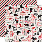 Carta Bella - Circus Party Collection - 12 x 12 Double Sided Paper - Circus Icons