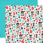 Carta Bella - Circus Party Collection - 12 x 12 Double Sided Paper - Letters and Numbers