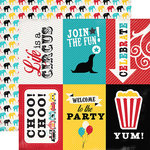 Carta Bella - Circus Party Collection - 12 x 12 Double Sided Paper - 4x6 Journaling Cards