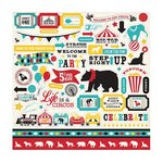 Carta Bella - Circus Party Collection - 12 x 12 Cardstock Stickers - Elements