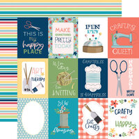 Carta Bella Paper - Craft and Create Collection - 12 x 12 Double Sided Paper - 3 x 4 Journaling Cards