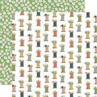 Carta Bella Paper - Craft and Create Collection - 12 x 12 Double Sided Paper - Spools