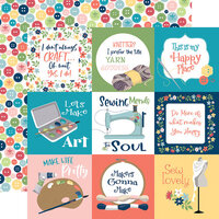 Carta Bella Paper - Craft and Create Collection - 12 x 12 Double Sided Paper - 4 x 4 Journaling Cards