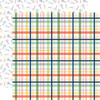 Carta Bella Paper - Craft and Create Collection - 12 x 12 Double Sided Paper - Makers Plaid