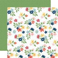 Carta Bella Paper - Craft and Create Collection - 12 x 12 Double Sided Paper - Sew Lovely Floral