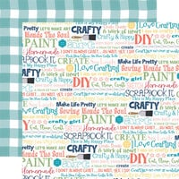 Carta Bella Paper - Craft and Create Collection - 12 x 12 Double Sided Paper - Crafty and Happy