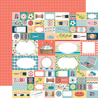 Carta Bella Paper - Craft and Create Collection - 12 x 12 Double Sided Paper - Handmade With Love