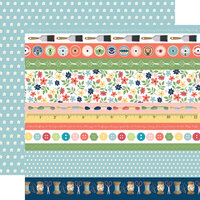 Carta Bella Paper - Craft and Create Collection - 12 x 12 Double Sided Paper - Border Strips