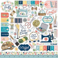 Carta Bella Paper - Craft and Create Collection - 12 x 12 Element Stickers