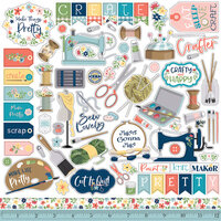 Carta Bella Paper - Craft & Create Collection - 12 x 12 Element Stickers