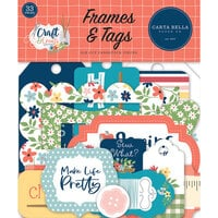 Carta Bella Paper - Craft and Create Collection - Frames and Tags