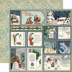 Carta Bella - Christmas Wonderland Collection - 12 x 12 Double Sided Paper - Journaling Cards