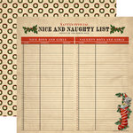 Carta Bella - Christmas Wonderland Collection - 12 x 12 Double Sided Paper - Naughty and Nice