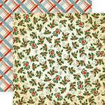 Carta Bella - Christmas Wonderland Collection - 12 x 12 Double Sided Paper - Holly and Mistletoe