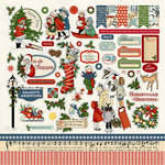 Carta Bella - Christmas Wonderland Collection - 12 x 12 Cardstock Stickers - Elements