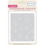 Carta Bella - Christmas Wonderland Collection - Embossing Folders - Snow Flurries