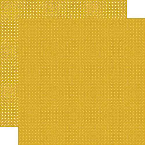 Carta Bella Paper - Dots Collection - 12 x 12 Double Sided Paper - Mustard