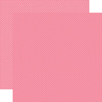 Carta Bella Paper - Dots Collection - 12 x 12 Double Sided Paper - Bubblegum Pink