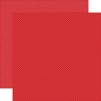Carta Bella Paper - Dots Collection - 12 x 12 Double Sided Paper - Red