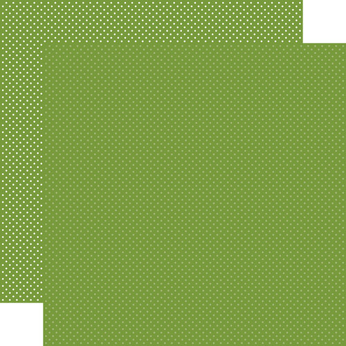 Carta Bella Paper - Dots Collection - 12 x 12 Double Sided Paper - Leaf Green