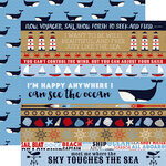 Carta Bella Paper - Deep Blue Sea Collection - 12 x 12 Double Sided Paper - Border Strips