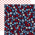 Carta Bella Paper - Deep Blue Sea Collection - 12 x 12 Double Sided Paper - Sea Creatures