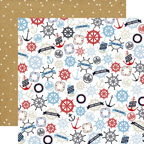 Carta Bella Paper - Deep Blue Sea Collection - 12 x 12 Double Sided Paper - Bon Voyage