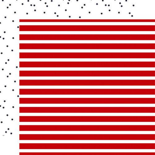 Carta Bella Paper - Deep Blue Sea Collection - 12 x 12 Double Sided Paper - Sailor Stripe