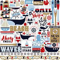 Carta Bella Paper - Deep Blue Sea Collection - 12 x 12 Cardstock Stickers - Elements