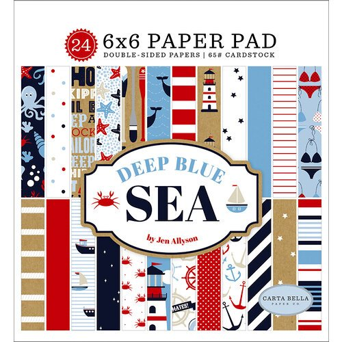 Carta Bella Paper - Deep Blue Sea Collection - 6 x 6 Paper Pad