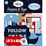 Carta Bella Paper - Deep Blue Sea Collection - Ephemera - Frames and Tags