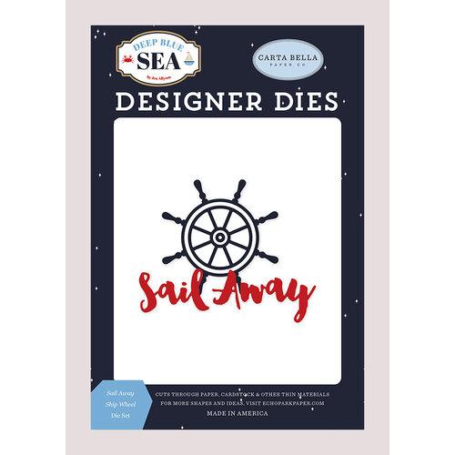 Carta Bella Paper - Deep Blue Sea Collection - Designer Dies - Sail Away Ship Wheel
