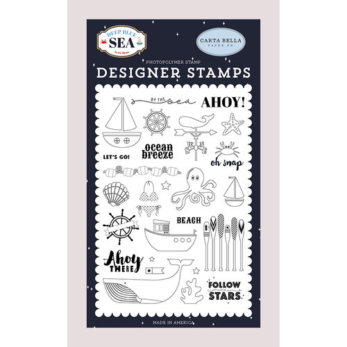 Carta Bella Paper - Deep Blue Sea Collection - Clear Photopolymer Stamps - By The Sea