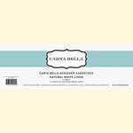 Carta Bella Paper - Bulk Cardstock Pack - 25 Sheets - Linen Texture - Natural White