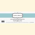Carta Bella Paper - Bulk Cardstock Pack - 25 Sheets - Linen Texture - Natural White
