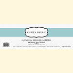 Carta Bella Paper - Bulk Cardstock Pack - 25 Sheets - Felt Texture - Natural White