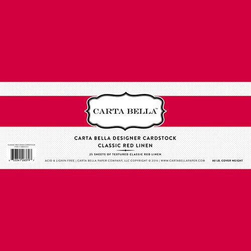 Carta Bella Paper Classic Red Linen Texture Bulk Cardstock