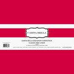 Carta Bella Paper - Bulk Cardstock Pack - 25 Sheets - Linen Texture - Classic Red
