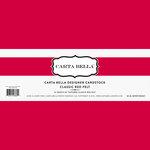 Carta Bella Paper - Bulk Cardstock Pack - 25 Sheets - Felt Texture - Classic Red