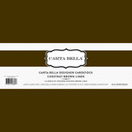 Carta Bella Paper - Bulk Cardstock Pack - 25 Sheets - Linen Texture - Chestnut Brown