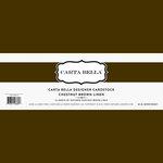Carta Bella Paper - Bulk Cardstock Pack - 25 Sheets - Linen Texture - Chestnut Brown