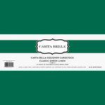 Carta Bella Paper - Bulk Cardstock Pack - 25 Sheets - Linen Texture - Classic Green