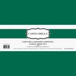 Carta Bella Paper - Bulk Cardstock Pack - 25 Sheets - Felt Texture - Classic Green